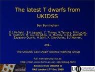 Brown dwarfs in the UKIDSS Large Area Survey - AstroGrid wiki