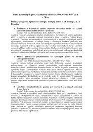 Témy dizertačných prác v akademickom roku 2009/2010 na FPV ...