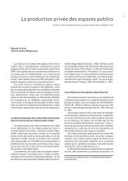 La production privée des espaces publics - Annales de la recherche ...