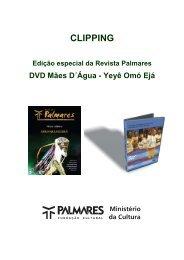 Edição especial da Revista Palmares / DVD Mães D´Água