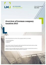 Overview of German company taxation 2013 - LM Leinauer Müller ...