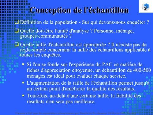 Conception de l'échantillon Comment élaborer un échantillon ...