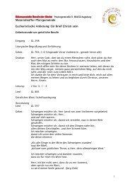 1 Diözesanstelle Berufe der Kirche Materialkoffer Pfarrgemeinde ...