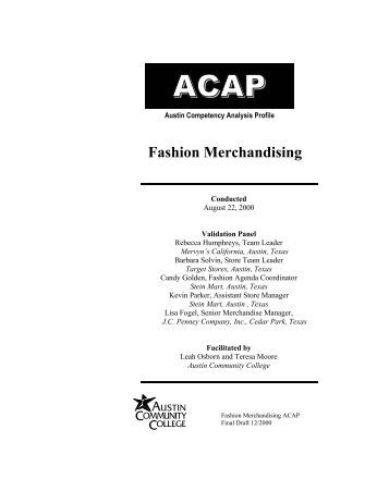 essays on fashion merchandising Read this essay on merchandising come browse our large digital warehouse of free sample essays get the knowledge you need in order to pass your classes and more.