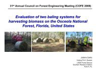 Evaluation of two baling systems for harvesting biomass on the ...