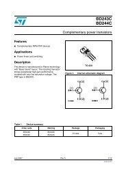 Technical Data Sheet - STMicroelectronics