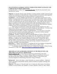 2003 Abstracts - American Contact Dermatitis Society