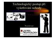 Technologický postup při vyšetřování nehody - ATS-TELCOM ...