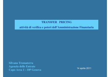 Transfer pricing e attività di verifica - Liguria - Agenzia delle Entrate