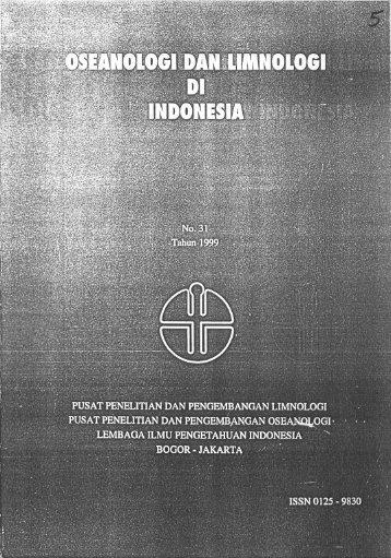 Page 1 Page 2 Oseonoiogi dan Limnologi di Indonesia 1999 ISSN ...