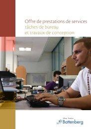 Offre de prestations de services tâches de bureau et travaux de ...