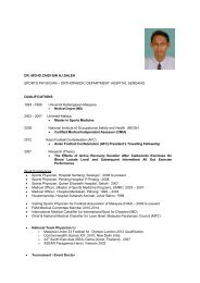 DR. MOHD ZAIDI BIN HJ.SALEH SPORTS PHYSICIAN - Malaysian ...