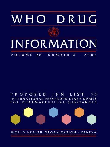 WHO Drug Information Vol. 20, No. 4, 2006 - World Health ...