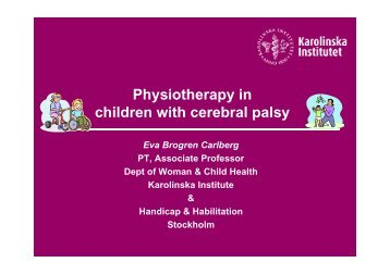 Physiotherapy in children with cerebral palsy - BLF