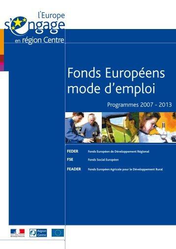 Documents - L'Europe s'engage en région Centre
