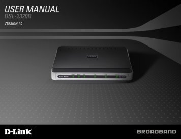 D-Link 2320B User Manual - Laurel DSL
