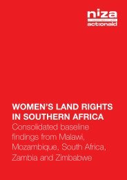 Women's land rights in southern africa Consolidated ... - Mokoro