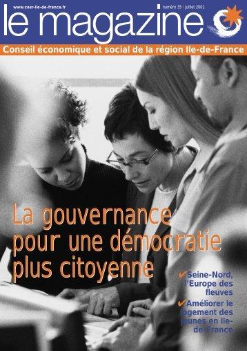 La gouvernance pour une démocratie plus citoyenne La ...