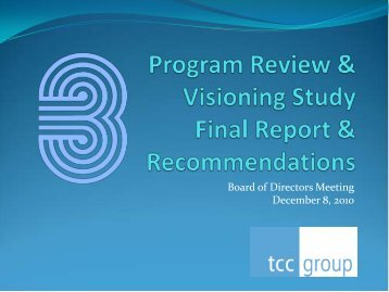 TSMSS Program Review & Visioning Study - Final Report