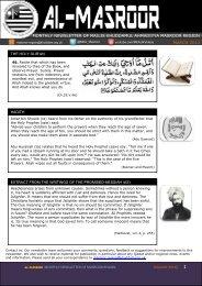 monthly newsletter of majlis khuddamul ahmadiyya masroor region ...