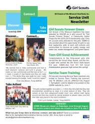 Service Unit Newsletter - Girl Scouts of the Missouri Heartland
