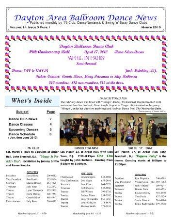 14 03 March 2010 Newsletter - Ballroom Dance Dayton