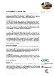 Nyhedsbrev nr. 1 - August 2006 - Energitjenesten