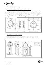 TECHNISCHE INFORMATION 2009-01 1. Flansch ... - Somfy