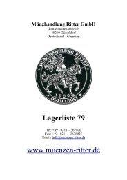 Lagerliste 79 www.muenzen-ritter.de - Münzhandlung Ritter GmbH