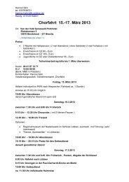 Chorfahrt 15.-17. März 2013 - Kirchenmusik in Blankenfelde