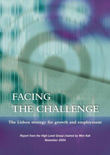 FACING THE CHALLENGE - Folketingets EU-oplysning