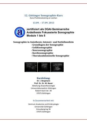 12. Göttinger Sonographie-Kurs - ZARI