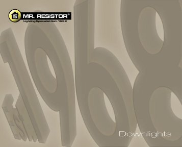 Catalogue - Downlights - Mr RESISTOR