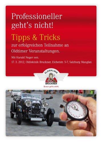 Tipps und Tricks mit Harald Neger - Oldieklinik.at