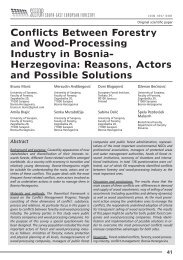 Conflicts Between Forestry and Wood-Processing Industry in Bosnia ...
