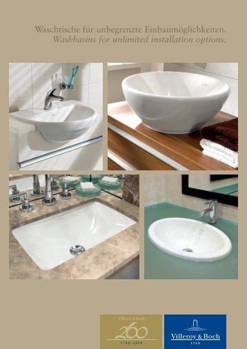 Built-in washbasins - Villeroy & Boch