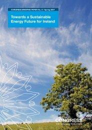 Towards a Sustainable Energy Future for Ireland - Irish Congress of ...