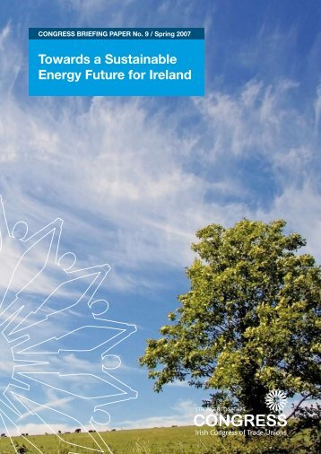 Towards a Sustainable Energy Future for Ireland - Irish Congress of ...