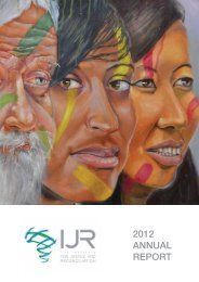 2012 ANNUAL REPORT - Institute for Justice and Reconciliation