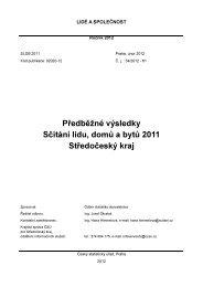 Předběžné výsledky Sčítání lidu, domů a bytů 2011 Středočeský kraj