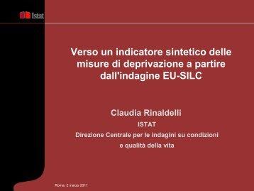 indicatore sintetico di deprivazione - Istat.it