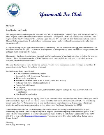 Yarmouth Ice Club Member & Skater Rules and Code of Conduct