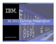 3Q 2011 Earnings Presentation