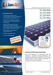 SunClass SC 235-72M Serie 220-235W ... - ERSAP Solar AG