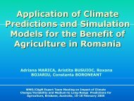 Application of Climate Predictions and Simulation Models for the ...