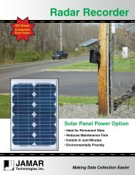 Radar Recorder Solar Panel Brochure - JAMAR Technologies