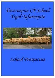 Tavernspite CP School Ysgol Tafarnspite School Prospectus