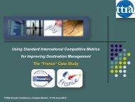 Using Standard International Competitive Metrics for Improving ...