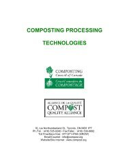 composting processing technologies - Compost Council of Canada