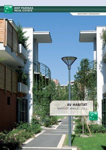 Rapport annuel AV Habitat 2012. - BNP Paribas REIM